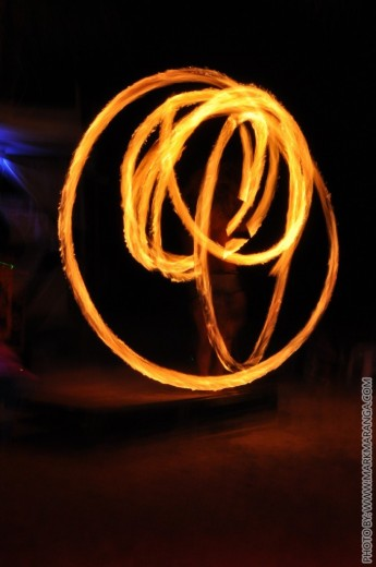 Different Rotations of Fire Dance