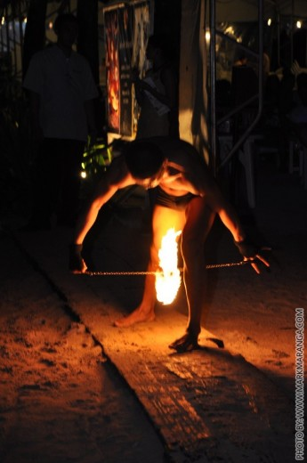 Fire Dance between the Legs