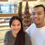 At Robinsons Galleria with the Big Christmas Tree at the background