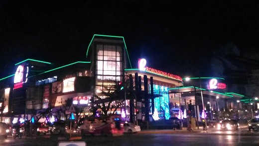 View of Robinsons Galleria at Nighttime