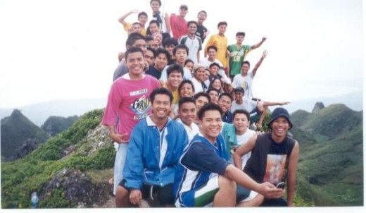 At the Osmena Peak with College Classmates in Don Bosco