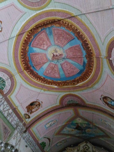 Ceiling design of Dalaguete Church