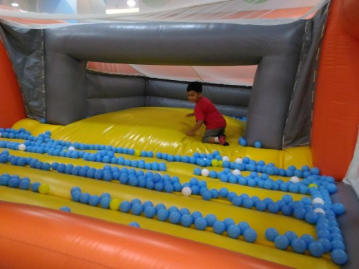 Inside the Jump and Bounce Inflatable