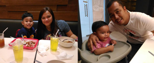 Maranga Family at Chicken Charlie
