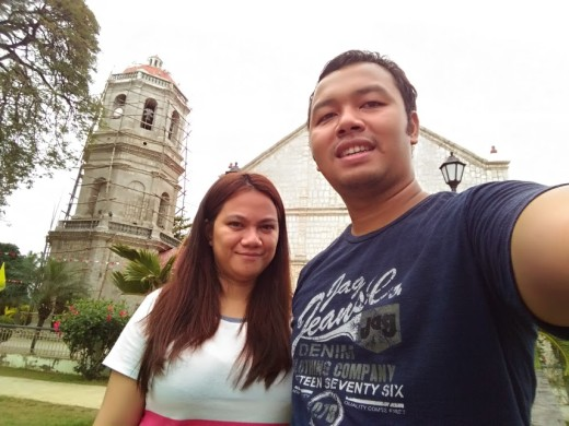 Mark & Lisa at Dalaguete Church's Park