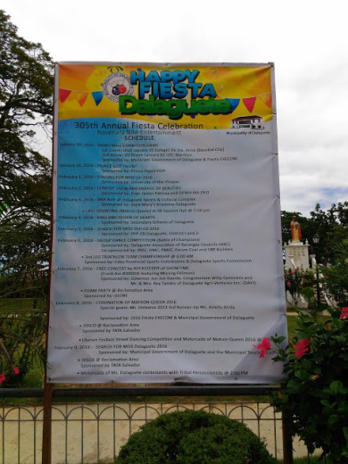 Schedule of Annual Fiesta Celebration 2016 of Dalaguete