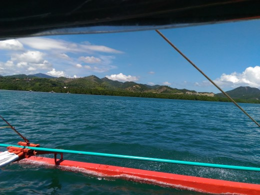 View of the mountains of mainland Palawan