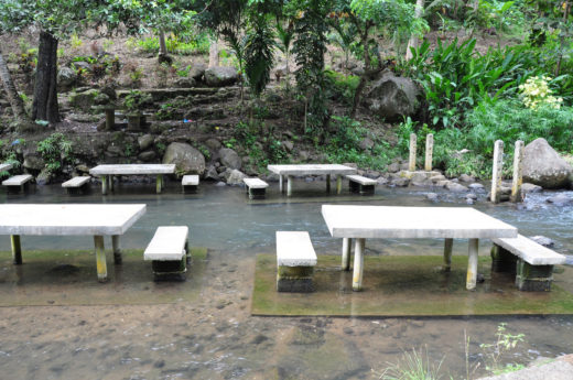 Concrete Tables and Chairs for Picnic at Mimbalot Falls