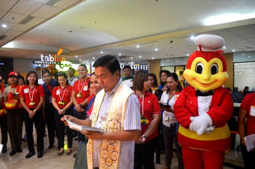 During the Store Blessing of Jollibee