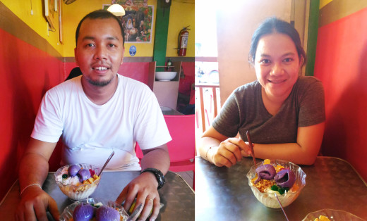 Mark & Lisa at Melton's Halo-Halo