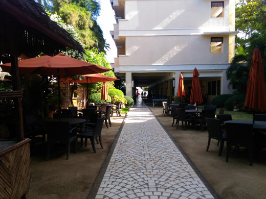 Walkway to the Costabella Hotel