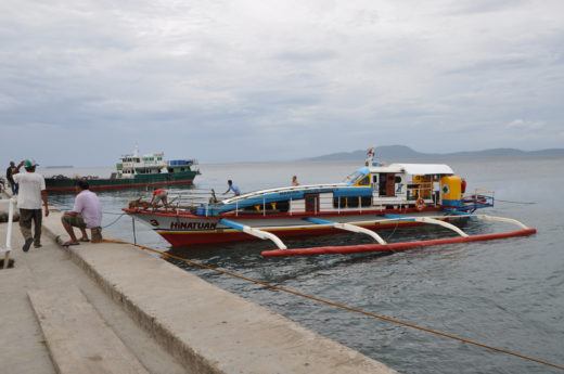 Outriggers in the sea port