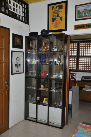 Small Items on Display in a Cabinet