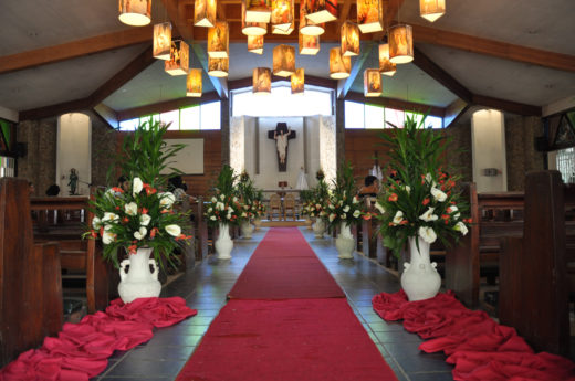 Inside the San Isidro Parish in Cagayan de Oro